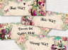 4 Alice in Wonderland Mulberry Floral Party Decoration Arrows Signs