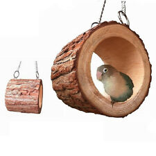 Round Wooden Hanging Swing House Cage for Mouse Rat Parrot Bird Cat Hamster