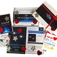 Personalised Name A Star Birthday Gifts For Mr & Mrs Binary Star Box Set
