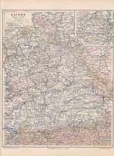 BAYERN Franken Oberpfalz Oberfranken LANDKARTE von 1897 Oberbayern Schwaben