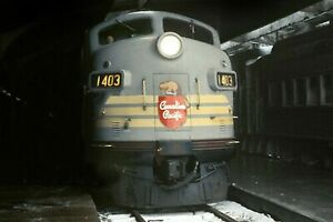 "Canadian Pacific Rwy 1803 Montreal Que. Windsor sta train No1 1969  8x10"" print"