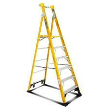 GORILLA Fibreglass Platform Ladder 6 Steps 9ft/6ft (2.7m/1.8m)