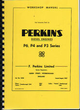Perkins P6, P4 and P3 Series Diesel Engine Workshop Manual Instruction Book