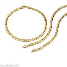 18K Yellow Gold Filled Necklace/Bracelet Set (S-107)