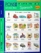 PONS Mein erster Wortschatz auf einen Blick. Spanisch. Lernhilfe Vokabeln Sprach