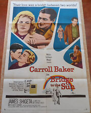 Bridge to the Sun MoviePoster, Original, Folded, One Sheet, Carroll Baker, 1961