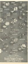1961 Black Starr Gorham Various Gold Sapphire Cuff Links PRINT AD
