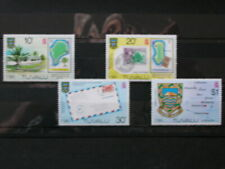 TUVALU '1980 *MH 130/33 YT 4,0 EUR ISLANDS,POSTE,NAVIGATION,MAPS,COUTUMES,BLASON