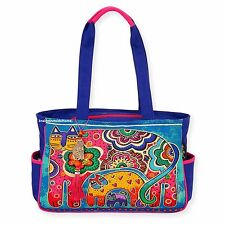 Laurel Burch Bohemian Whiskers Cat Med/Lg Tote Bag NEW Retired Almost Gone