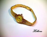 "14ct 14k Gold, Ladies Vintage Geneve Swiss Watch, 6 Jewel Movement. 22.4g. 7"""