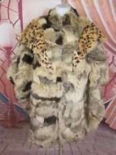 Gorgeous Vintage Winner's Circle Rabbit Fur Cape Poncho Coat Jacket One Size