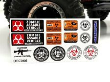 Gear Head RC 1/10 Scale Zombie Apocalypse Sticker Sheet GEA7060