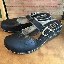 L'Artiste by Spring Step Shoes Aneria Black Leather Mules EU 41 / US 9.5-10