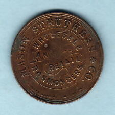 New Zealand - Token.  Mason & Struthers 1d.  Christchurch.. VF