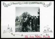 Vintage Jens Nielsen Girls & Boys with their Horses Merry Christmas Photo Card