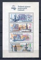 33381) Czechoslovakia 1988 MNH Fountains S/S