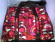 Roxy Vibrant Print Tote - Pink Purple