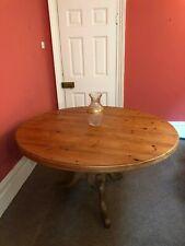 "Antique Pine Round Circular Table Pedestal 54""/137cm diameter 29.5""/75cm height"