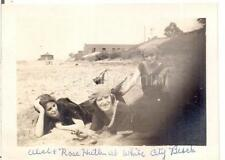 Id'd Wool Swimsuit Girls Woman At White City Beach CLEVELAND OH 1920s Photo