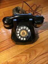 VTG Automatic Electric Blk Bakelite Desk Monophone Nickel-Plated Trim Telephone