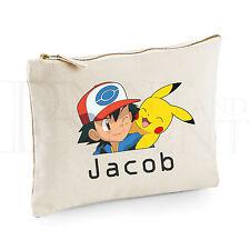 Personalizado Pokemon-Ash & Pikachu Estuche - (22cm X 16cm)