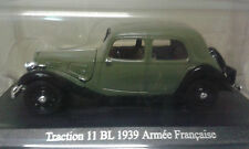 CITROEN TRACTION 11 BL 1939 ARMEE FRANCAISE COLLECTION TRACTION ATLAS 1/43