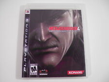 Metal Gear Solid 4: Guns of the Patriots (Playstation 3) PS3 Complete NO Scratch