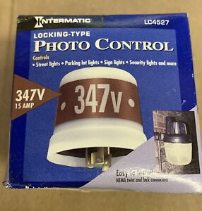 Intermatic LC4527 Photo Control Thermal Type Photocell Locking Type Mount 347 V