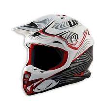 Taglia M - Casco UFO Mx Helmet Warrior X-Zone Bianco Nero Rosso Cross Enduro DH