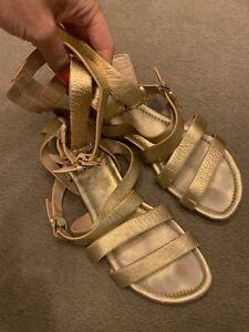 MICHAEL KORS Gold Gladiator Sandals Size 6