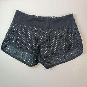Lululemon Run: Speed Short 2-way Stretch Speckle Dot Black Size 2