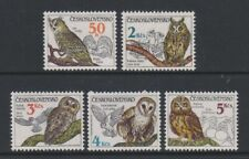 Tschechoslowakei - 1986, Eulen,Vögel Set - MNH - Sg 2844/8
