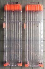 Lot Of 2 NERF 18 Dart N-STRIKE  Elite Clear Rapidstrike AMMO CLIP MAGAZINES