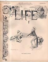 1899 Life August 3 - Alger resigns; Mermaids; Bonesteel SD murder; Hearst yellow