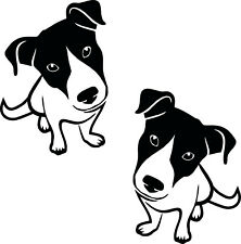 2 Dog Sticker Jack Rusell Terrier Height 7 7/8in Choice