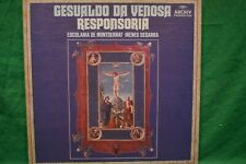 Gesualdo - Responsoria - 3 LP, Escolania de Montserrat, Segarra