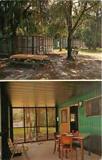 Tampa FL~Hillsborough River State Park~Rental Cottage Area~Picnic Tables 1971