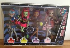 MONSTER High Ghouls Night Out Clawdeen Venus Rochelle Ghoulia 4 Pack Bambola Nuovo con Scatola