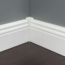 Universalverbinder für weiße Leisten, 21x 21x125 mm, Hartholz weiß lackiert