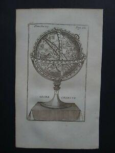 1751 Nicolas BION Atlas  CELESTIAL WORLD map chart - Globe Celeste