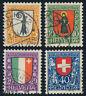 SCHWEIZ 1923, MiNr. 185-188, 185-88, sauber gestempelt, Mi. 70,-