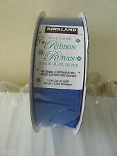 KIRKLAND SIGNATURE WIRE EDGED RIBBON 45.7M  BRIGHT BLUE   3.8CM  WIDE 15A03