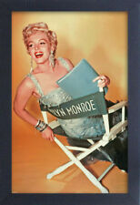 MARILYN MONROE GOLD CHAIR 13x19 FRAMED GELCOAT POSTER ICONIC MODEL BEAUTIFUL NEW