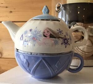 Frozen 2 ~ Queen Of Snow & Ice~ 2pc Stacking Ceramic Tea Set - Zak Designs New
