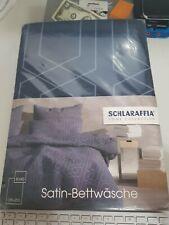 Schlaraffia Home Collection  Satin Bettwäsche  135x200 deep blue