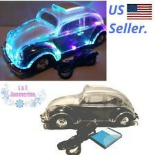 Mini Crystal Car Speaker BT Volkswagen Light Up multicolors Speaker Black
