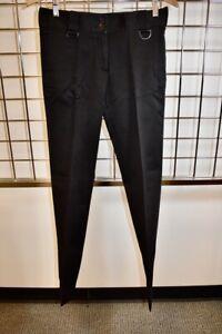 BURBERRY Black Straight leg Women's Pants Size 8 On Sale ns
