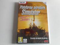 JEU PC DVD-ROM NEUF - PLATEFORME PETROLIERE SIMULATOR