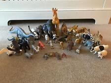 HUGE BUNDLE OF 35 ANIMALS - PLAYMOBIL, SCHLEICH, ETC