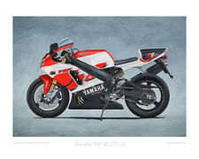 Motorcycle Limited Edition Print - Yamaha YZF-R7 OW02 - by Steve Dunn